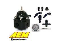 AEM Universal Ajustable Regulador de presión de combustible Kit #25-302BK - Mitsubishi Evo