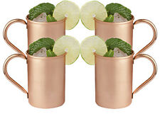 Copper Handle Moscow Mule Mug Handmade Set of 4 Mugs 16 OZ