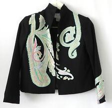 Silk Club Jacket 100% Silk Boxy/Short Style Long Sleeve Open Size PS