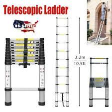 10.5Ft Telescopic Extension Aluminum Step Ladder Folding Multi Purpose 11 Steps