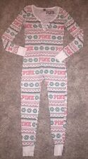 Victoria's Secret PINK Fair Isle Long John Thermal One Pajama Small Christmas