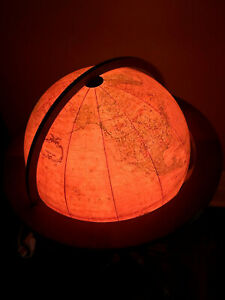 "Replogle ~1985 Heirloom 16"" Lighted Floor Globe with Stand"