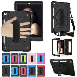 """Rotating Stand Strap Case Cover For iPad 5th 6th 7th 8th Gen 10.2"""" Mini 5 Air 2"""