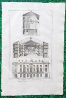 XVIII ème - Dépt 69 - Lyon - Rare Plan n° 2 Théâtre de la Comédie 44x29 cm 1776