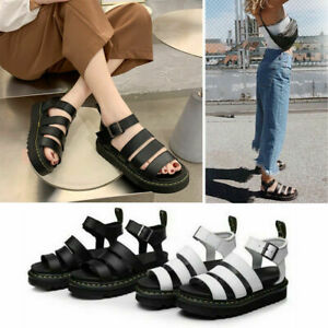 Dr Martenss BLAIRE WOMEN'S HYDRO LEATHER GLADIATOR SANDALS Soft NAPPA Summer Hot