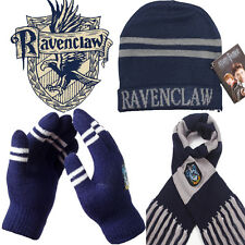 Harry Potter Ravenclaw House Gift 3 PCS of Wool Knit Scarf + Hat + Thick Gloves