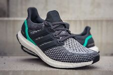 Adidas Ultra Boost 2.0 Gris Choc Comme neuf 11.5 UK AQ5931 Baskets Homme Running