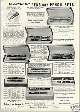 1941 PAPER AD Parker Fountain Pen Duofold Desk Sets Eversharp Wahl Oxford