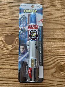 Disney Star Wars Rey Lightsaber Toothbrush Firefly Light and Sound Timer Soft