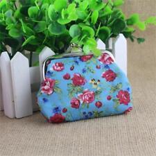 Women Small Wallet Handbag Retro Girls Change Coin Purse Hasp Clutch Card Holder Blue
