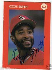 Ozzie Smith Auto Oz The Wizrd Card JSA HOF St Louis Cardinals Autograph