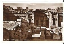 Lebanon Old Postcard Middle East Emicycle of the Great Court,  Baalbek