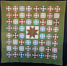 Antique 1860 Friendship Block with Center Star Quilt