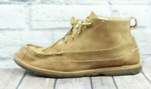 LL BEAN Men's Brown Suede Leather Ankle Chukka Leather Laces Boots Size 11.5 D