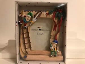DEAR SANTA Kids/Baby Resin Picture Frame by RAINBOW MOUNTAIN  NEW IN BOX
