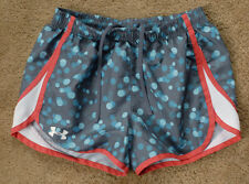 UNDER ARMOUR blue polka dot shorts size YLG large LOOSE HEAT GEAR