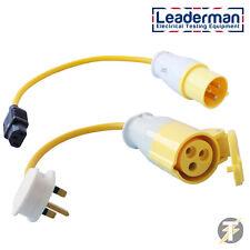 Pat Test Adattatore Set - 110Volt 16Amp Plug and SOCKET Adattatore Set