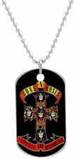 Dog Tag Guns N Roses Chain Pendant Necklace Album Fan Gift