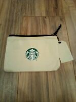 Starbucks White 2020 Zip Makeup Bag Rare LIMITED EDITION Manager Siren Tag New