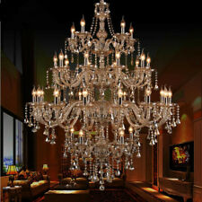 European Style Candle crystal chandelier modern villa living room stair light