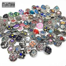 wholesale 100pcs/pack mix styles 18mm metal snap button charms fit Snap Jewelry