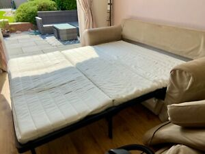 Ikea Ektorp beige sofa bed