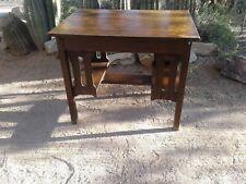 mission style table desk shelves oak southwest decor