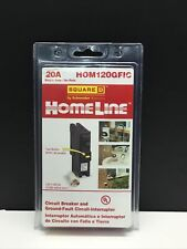 New Listingsquare D Homeline Hom120gfic Gfci Breaker 20a 120v New