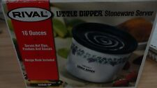 Rival little dipper Elec crock  w/lid 16 oz flower design  IOB
