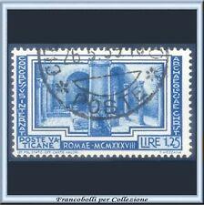1938 Vaticano Congresso Archeologia Cristiana L. 1,25 azzurro n. 60 Usato Pio XI