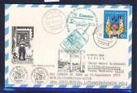 48909) LH Olympiade SF Berlin - Nizza (   Monaco) 22.9.93, Karte FDC Mi 1695