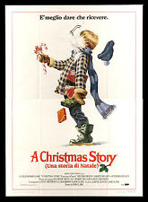 A CHRISTMAS STORY * CineMasterpieces ITALIAN ORIGINAL MOVIE POSTER SNOWBALL 1983