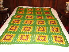 NEW Handcrafted Crochet Afghan Throw Blanket ~ GRANNY SQUARE Multi Color