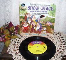DISNEY'S SNOW WHITE STORY BOOK AND RECORD 1977