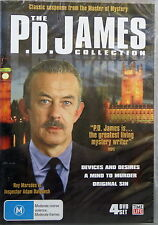 THE P.D. JAMES COLLECTION 4 DVD - ORIGINAL SIN, DEVICES AND DESIRES, MIND MURDER