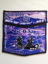 MIC O SAY OA LODGE 541 SCOUT 2-PATCH SERVICE NOAC 2006 DELEGATE BSA