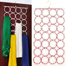 28 Ring Scarf Holder Tie Hanger Belt Closet Clothes Organizer Hook Storage New