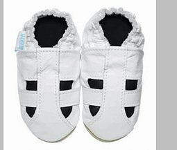 Jack & Lily Soft Soled Baby Shoe Solid White Sandal 18-24 Month