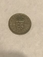 1955 Great Britain One Shilling Coin 🇬🇧 British Elizabeth II 👑 Nice!
