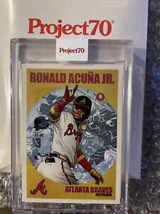 Topps PROJECT 70 Card #474 - Ronald Acuna Jr. by Quiccs - IN HAND PR 2,199🔥⚾️