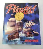 Pirates! Gold IBM DOS PC Big Box MicroProse Computer Game Complete 3.5 Disks