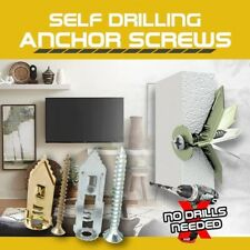 18Pair Expansion Drywall Stainless Steel Anchor Kit With Screws Self Drilling