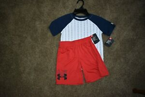 UNDER ARMOUR 2PC SHORTS OUTFIT NWT RED/WHITE/BLUE