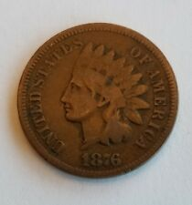 1876 Indian Head Penny One Cent 1 cent Rare Better date