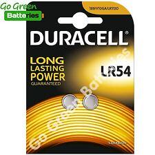 2x Durcell LR54 1.5 Volt Alkaline Battery 189 V10GA GP189 L1131 LR1130 A120 AG10