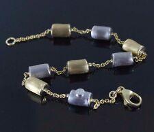 Marco Bicego siviglia Collection 18K Yellow and White Gold Bead Bracelet 7.25''