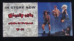 MOTLEY CRUE Album poster DECADE OF DECADENCE original record store promo 2-SIDED