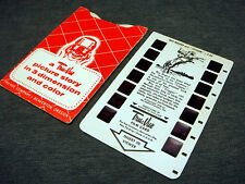 Vintage Tru Vue Viewer 3D Color Picture Story Slide T-27 Roy Rogers And Trigger
