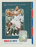 2019-20 Panini NBA Hoops FREQUENT FLYERS #8 KAWHI LEONARD Los Angeles Clippers