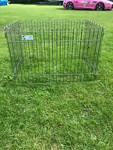 CROFT PUPPY RUN OR RABBIT GUINEA PIG 2ft x 3ft STEEL 4 X PANELS GALVANISED LOOK